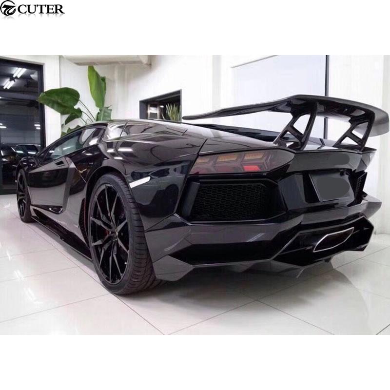 LP700 Car Body Kits Carbon fiber front lip rear diffuser side skirts rear spoiler for Lamborghini Aventador LP700 DMC style