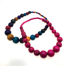 MANILAI New Fashion Bohemia Colorful Unique Wood Beads Exaggerated Necklace For Women Statement Necklace Jewelry  Accessories