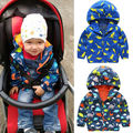Kid Boys Waterproof Windproof Hooded hooodis Children  Dinosaur Rain Coat Outerwear Children Boy Clothes