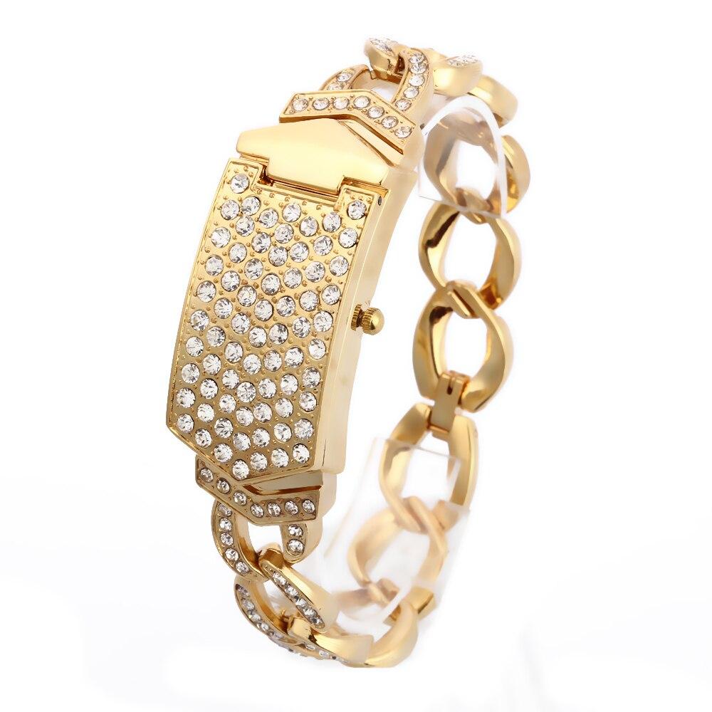 где купить G&D Women Wristwatches Quartz Watch Relogio Feminino  Luxury Bracelet Dress Watch Saat Relojes Mujer Clock Female Gift Lady Gold по лучшей цене