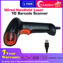 Yanzeo L1000 1D Barcode Scanner Draagbare USB Wired Handheld Laserlicht Scanner Voor Supermarkt Winkel IOS Android IPAD(China)