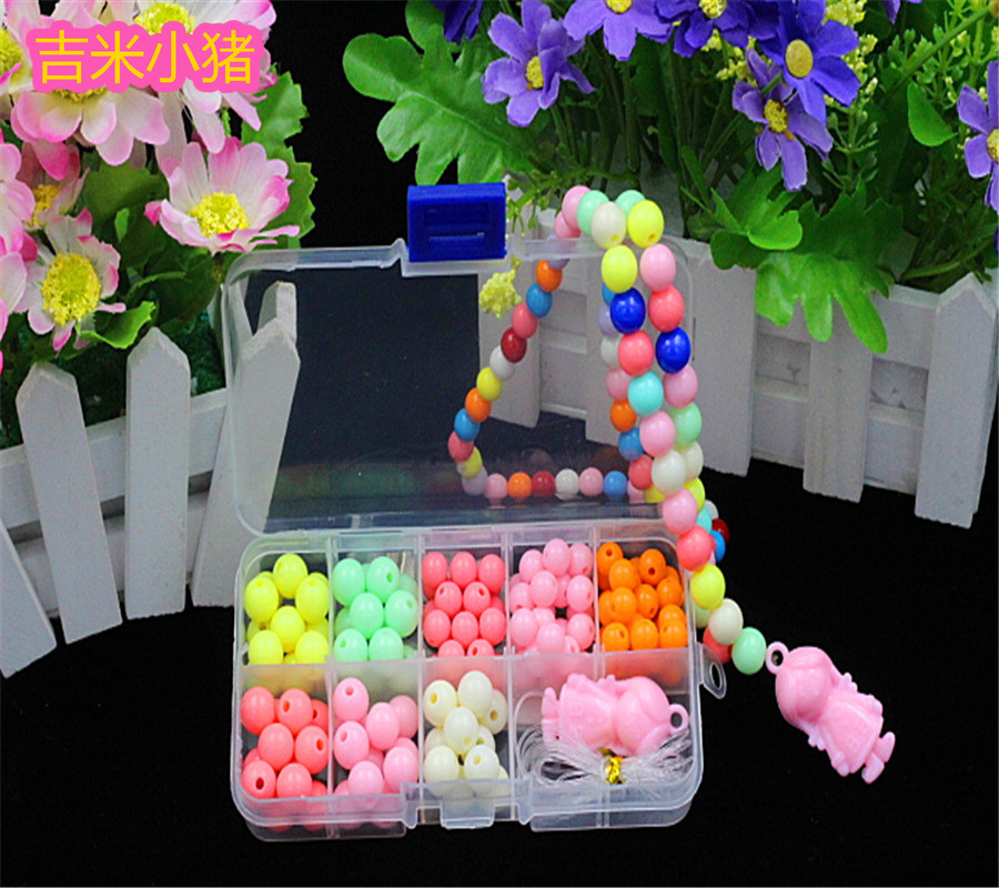 200pcs Beads Toys For Children Girl Gift DIY Lacing Necklaces Bracelets Toy Hand-made Kids Toddler Beaded Puzzles Free Shipping