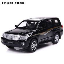 1/32 Scale Land Cruiser Model Car Toys Pull Back Simulation Auto Alloy Cars Diecast Vehicle Toys Flashing Music Collection Gifts(China)