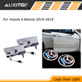 2X LED Car door logo welcome light ghost shadow light for Mazda 6 Atenza 2014 2015 2016