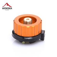 Outdoor Camping Hiking Stove Burner Adaptor Split Type Furnace Converter Connector Auto-off Gas Cartridge Tank cylinder Adapter cheap Aluminum Alloy Solid Seasoning Switch Tool No wind shield Propane widesea Manual Cold Climate Not Included Gas Stove