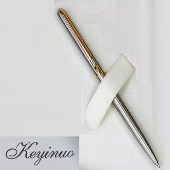 цена [4Y4A] Advanced stainless steel rod rotating metal ballpoint pen commercial ballpoint pen gift stationery онлайн в 2017 году
