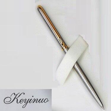 [4Y4A] Avançado haste de aço inoxidável rotativa de metal caneta esferográfica caneta esferográfica papelaria presente comercial
