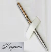 [4Y4A] zaawansowany pręt ze stali nierdzewnej obrotowy kulkowy długopis metalowy komercyjny długopis na prezent papiernicze w Długopisy kulkowe od Artykuły biurowe i szkolne na