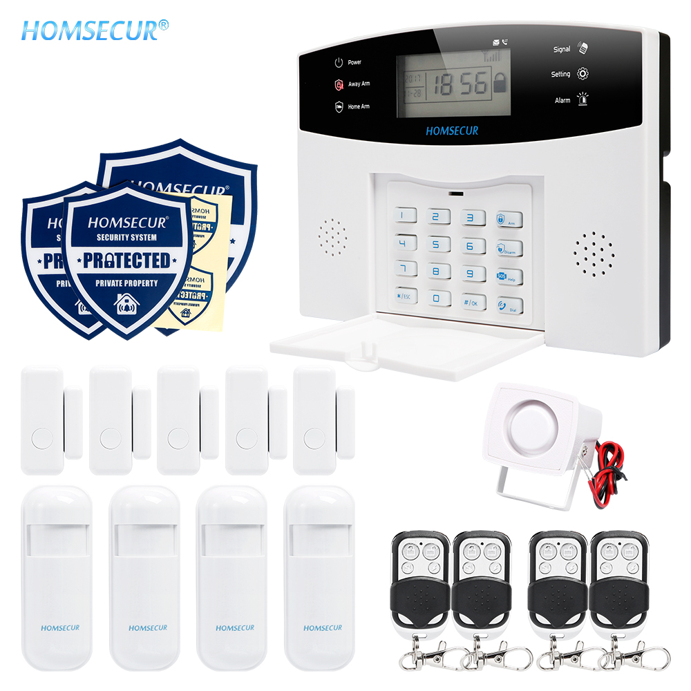 HOMSECUR Wireless GSM 850/900/1800/1900 Burglar Alarm System+PIR+5*Door SensorHOMSECUR Wireless GSM 850/900/1800/1900 Burglar Alarm System+PIR+5*Door Sensor
