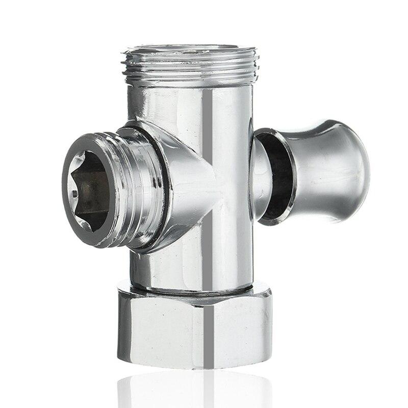 3 way shower head diverter valve 34 u002612 bsp tee connector adapter valve toilet bidet shower head sprinkler water shunt