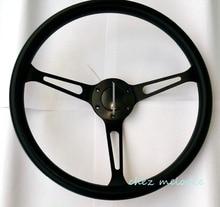 PU Polyurethane Foam 15 38cm universal vintage classic PU rim racing car bus steering wheel with