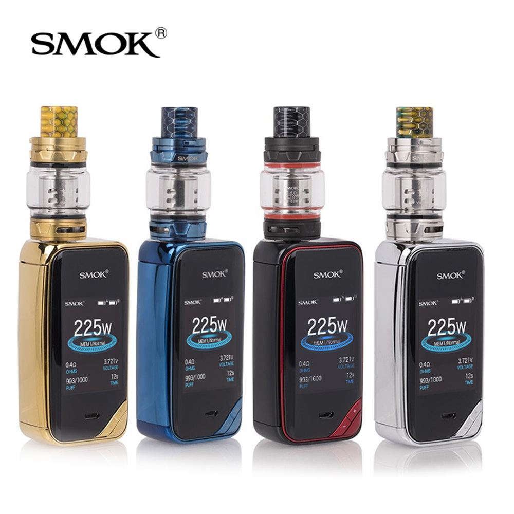 Original SMOK X-Priv Kit with TFV12 Prince Sub-Ohm Tank 8ML Vaporizer SMOK 225W Output Mod Box Electronic cigarette vape kit ct0012 android 6 0 car stereo 2 din quad core head unit 7 2gb 16gb car radio touch screen bluetooth wifi fm car gps navigation