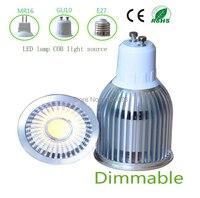 Free Shipping Ultra Bright GU10 Dimmable 9W CREE LED COB Spot Down Light Bulb 85 265V