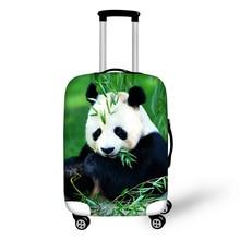 Эластичный Водонепроницаемый чехол для багажа до 18-28 чемодан Kawaii панда печать чемодан защитный чехол на Чемодан Аксессуары
