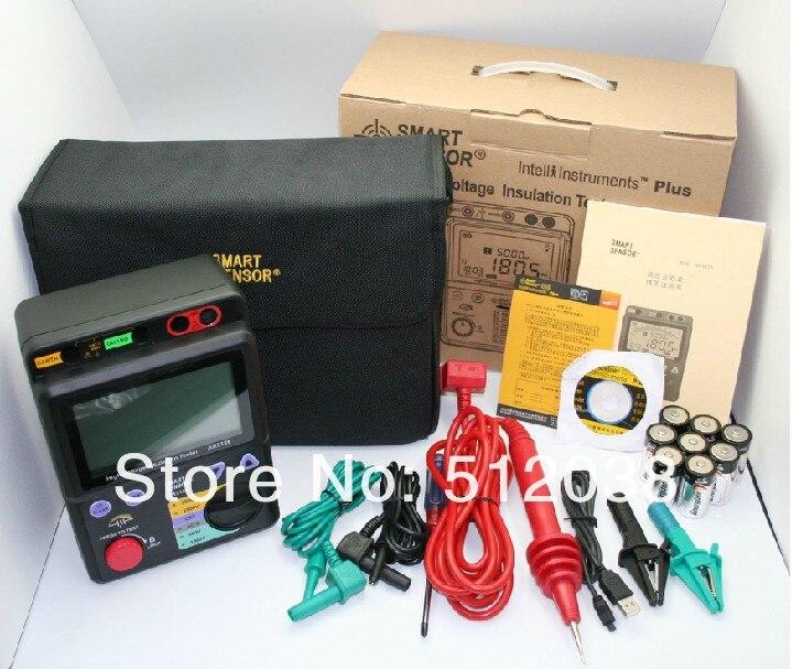 AR3126 500 В/1000 В/2500 В/5000 В высокое Напряжение тестер изоляции