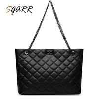 SGARR High Quality Soft PU Leather Women Handbags Patchwork Large Capacity Female Tote Messenger Bags Luxury