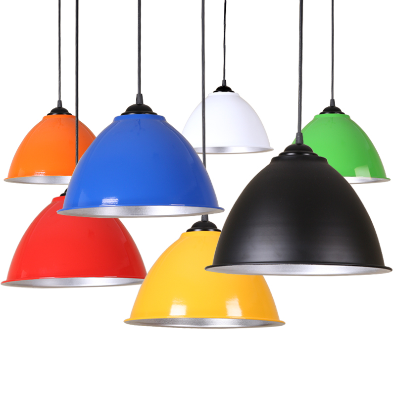 LED Pendant Lights Nordic Hang Lamp Vintage Industrial Lamp Colorful Aluminum Pendant Lamp For Living Room Kitchen Bar Cafe E27