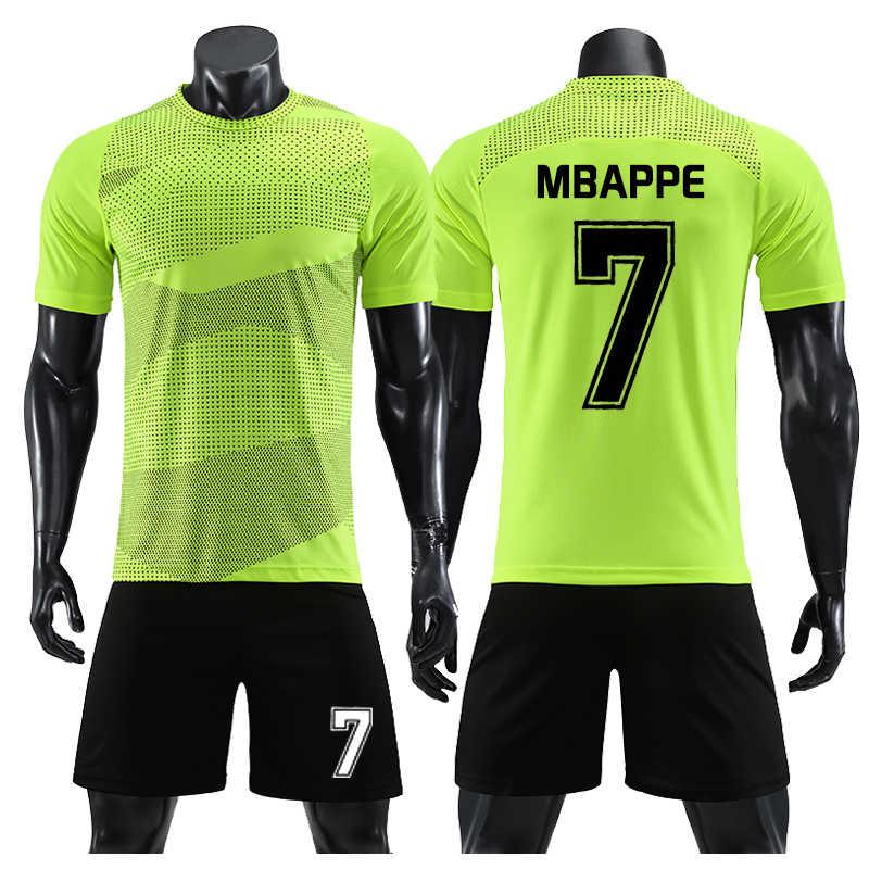 reputable site 12aec f12c2 MBAPPE MESSI Football Soccer Jerseys Kit Men Camiseta Futbol Survetement  Training set Custom 2019 Breathable uniforme futebol