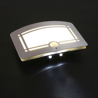 Body Motion Sensor Activated Battery LED Wall Lamp Night Light Outdoor