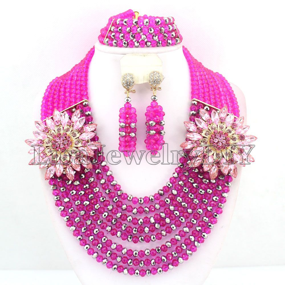 Popular Crystal Nigeria Wedding Beads Jewelry Sets African Party Beads Jewelry Sets HD3627Popular Crystal Nigeria Wedding Beads Jewelry Sets African Party Beads Jewelry Sets HD3627