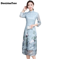 2019 new asian clothing aodai vietnam cheongsam more feminine dress for women chinese traditional dress