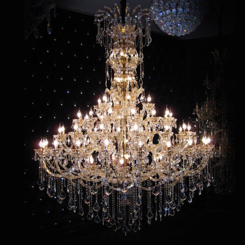 Светодиодное Освещение Заподлицо k9 кристалл современная люстра Аппаратные средства отель проект роскошные лампы домашние свет хрустальны
