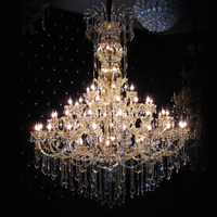 LED Lighting Flush Mount K9 Crystal Modern Chandelier Hardware Hotel Project Luxury Lamp Home Indoor Light