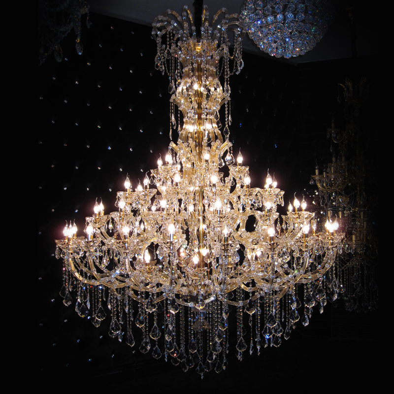 LED lighting flush mount K9 crystal modern chandelier Hardware hotel project Luxury lamp Home Indoor Light crystal chandeliers