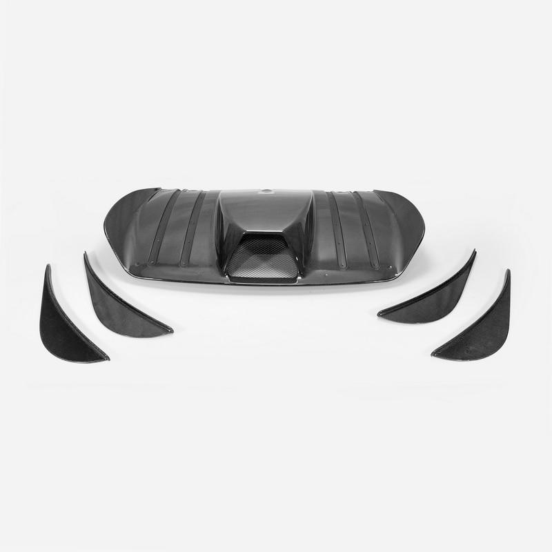 Car styling For Ferrari 430 Scuderia Style Carbon Fiber Rear Diffuser F430 Glossy Fibre SCU Bumper Splitter Panel Drift Part|Bumpers| |  - title=