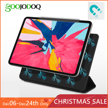 For iPad Pro 11 2018 Case, GOOJODOQ Magnetic Ultra Slim Smart Cover for iPad Pro 11 inch Case 2018 Funda Support Attach Charge(China)