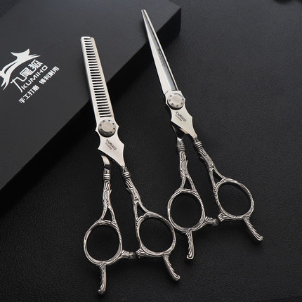 KUMIHO new arrival hair cutting and thinning scissors 6inch VG10 cobalt stainless professional hairdressing scissors free