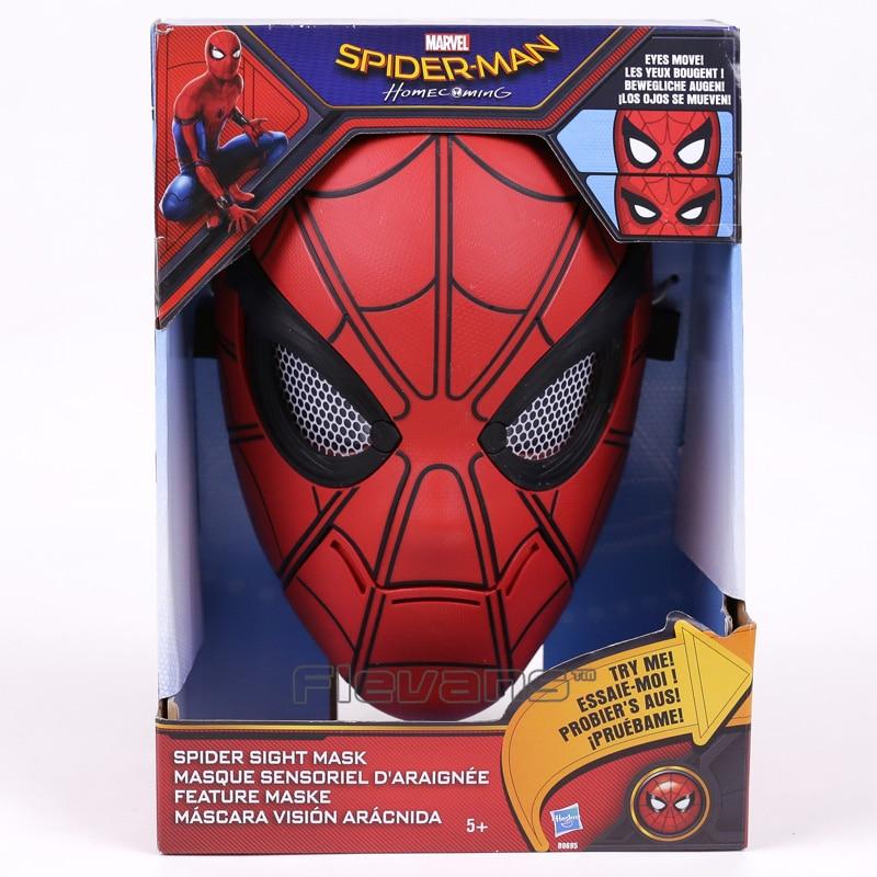 Original Spiderman Spider-Man Homecoming Spider Sight Mask (eyes move) PVC Figure Collectible Model Toy пластилин spider man 10 цветов