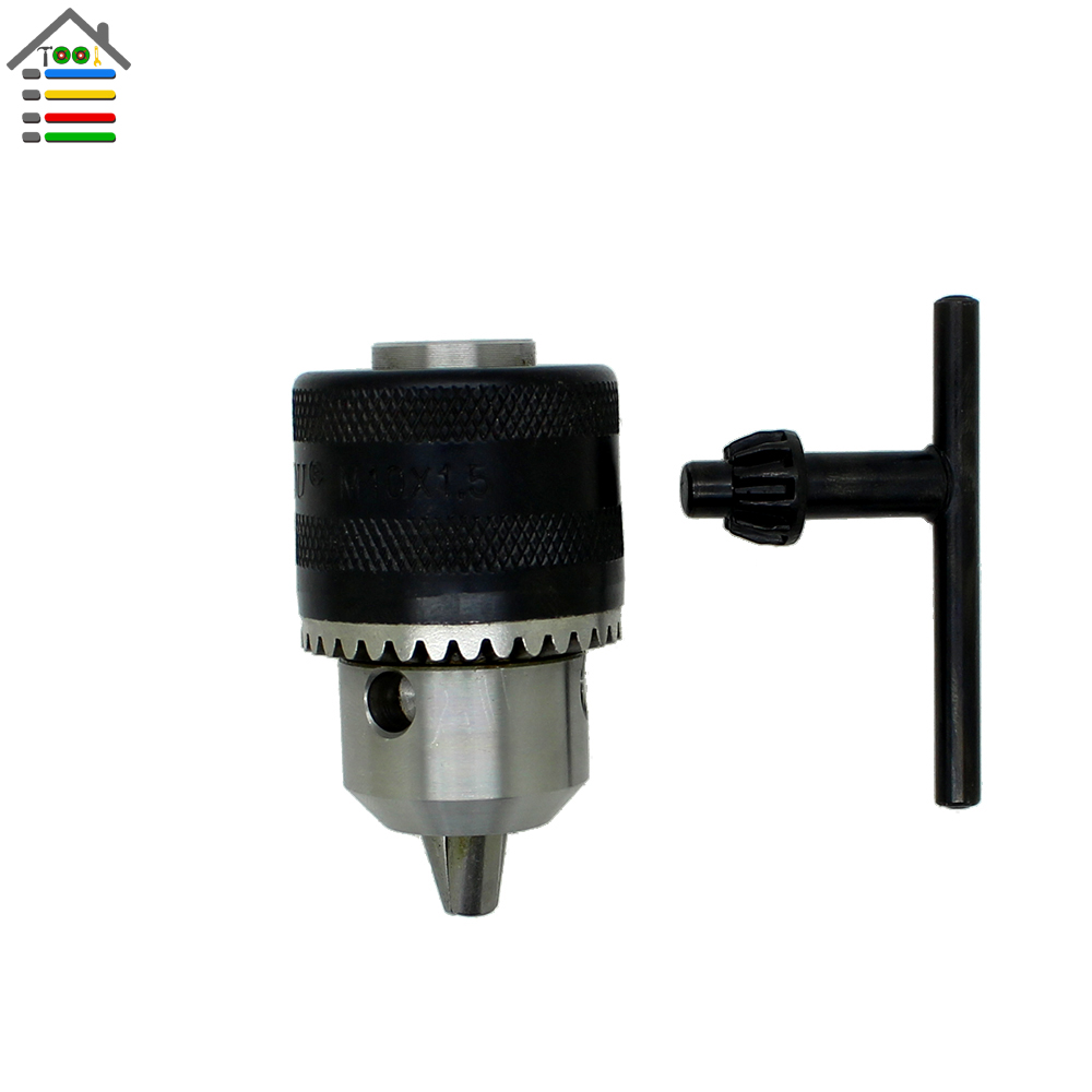 New Angle Grinder Chuck Adapter Capacity 1.5-10mm Mount M10 For Electric Drill Power Tools with Key high quality 4 in 1 drill chuck key for drills drill presses sizes 6 9 10 13 mm universal fit new arrival