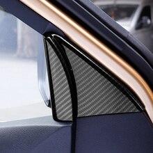 Per Nissan Terra Navara NP300 2017-2019 Interno Decorazione Adesivi ABS del Bicromato di Potassio Dell'automobile Styling Auto Interno Triangolo del Telaio Della Copertura