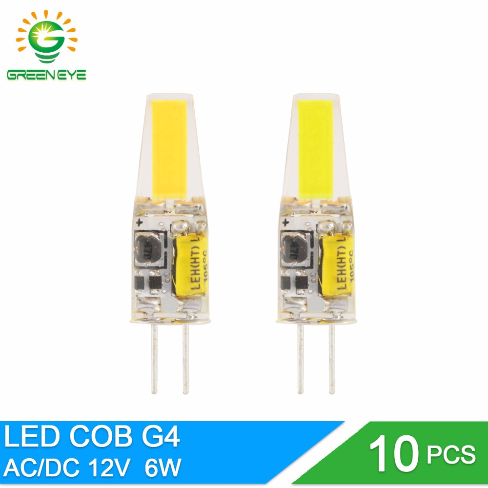 GreenEye G4 Dimmable AC DC 12V/220V Mini LED G4 Lamp COB LED Bulb G4 4W 6W 10W Replace Halogen Light Lampada Bombilla Ampoule mini dimmable g4 led lamp 12v dc ac 3w 6w led g4 bulb chandelier light super bright g4 cob led light lampada led replace halogen