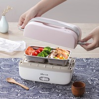 220V Electric Rice Cooker Portable Kitchen Mini Cooker Electric lunch Box double layer Heating Heat Preservation Hot Rice