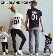 Взгляд сопоставления соответствующие наряды семьи семья футболка коротким лето рукавом хлопок