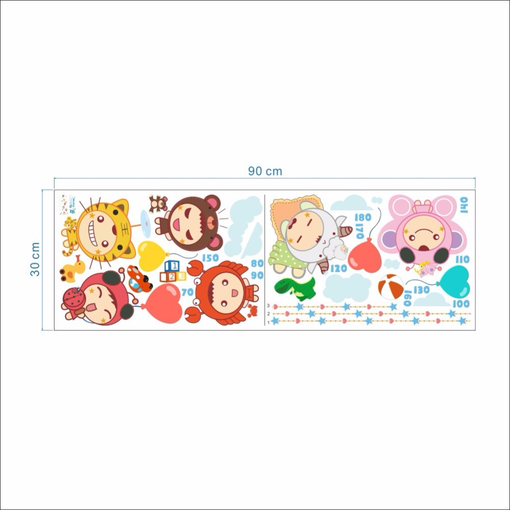 Cartoon baby height ruler wall stickers kids babies infant room cartoon baby height ruler wall stickers kids babies infant room growth chart wall paper poster nursery wall decals wall graphics in wall stickers from home geenschuldenfo Image collections