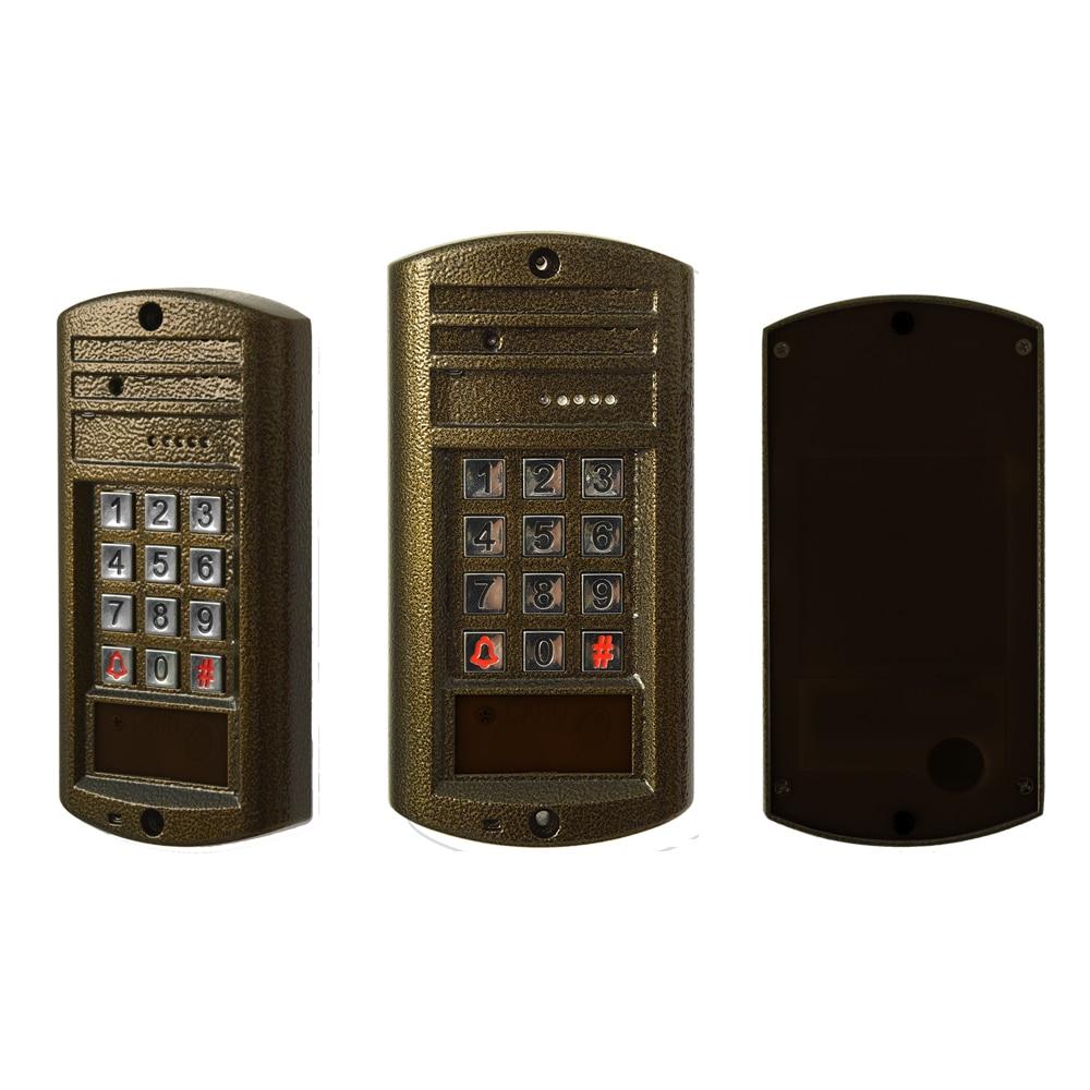 Купить с кэшбэком 1Set Hot sale Smart home door bell 7 inch LCD monitor wire Video door phone security alarm Door access intercom system talk-back