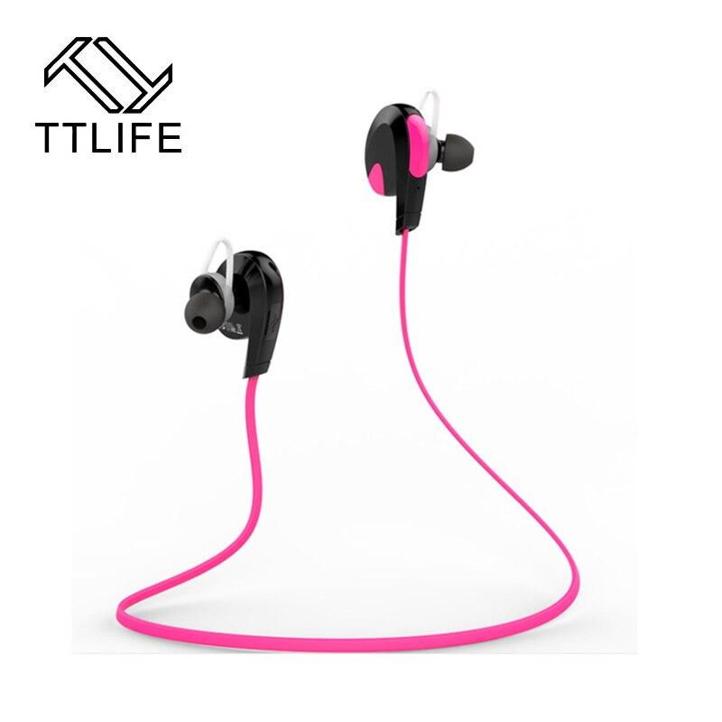 ttlife brand mini bluetooth earphone wireless headphones ear hook headset noise cancelling. Black Bedroom Furniture Sets. Home Design Ideas