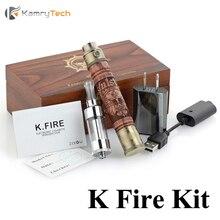 D'origine Kamry K feu Cigarette Électronique Bois E Narguilé Vaporisateur Vaporisateur stylo E Cigarette Crâne Fantôme X Feu 2 En Bois Kit X2026