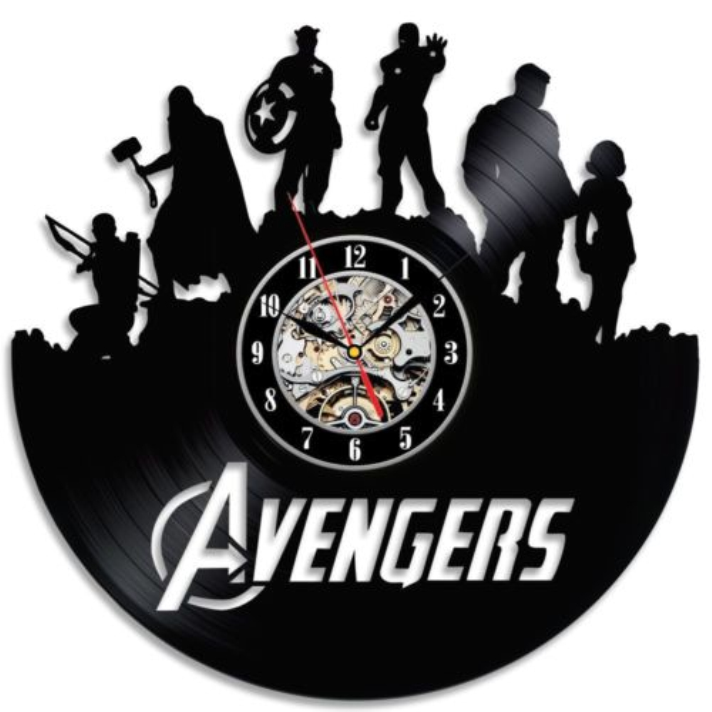 Free shipping 1piece marvel avengers superhero vinyl lp record free shipping 1piece marvel avengers superhero vinyl lp record wall clock handmade art 3d wall clock 12 creative digital clock in wall clocks from home amipublicfo Images