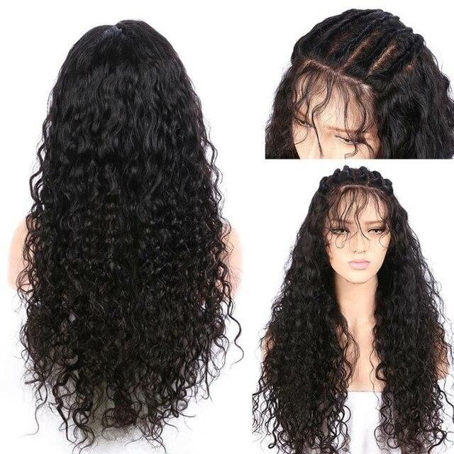 Peluca de onda de agua Peluca de cabello humano Remy brasileño Peluca de encaje de onda Natural pelucas de cabello humano predesplumadas 4x4 de encaje peluca de cierre puede reina