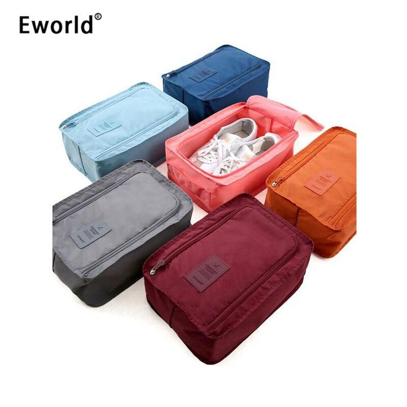 Eworld Bags Storage-Bag Shoes Organizer Portable Nylon 6-Colors Pouch Travel Multifunction