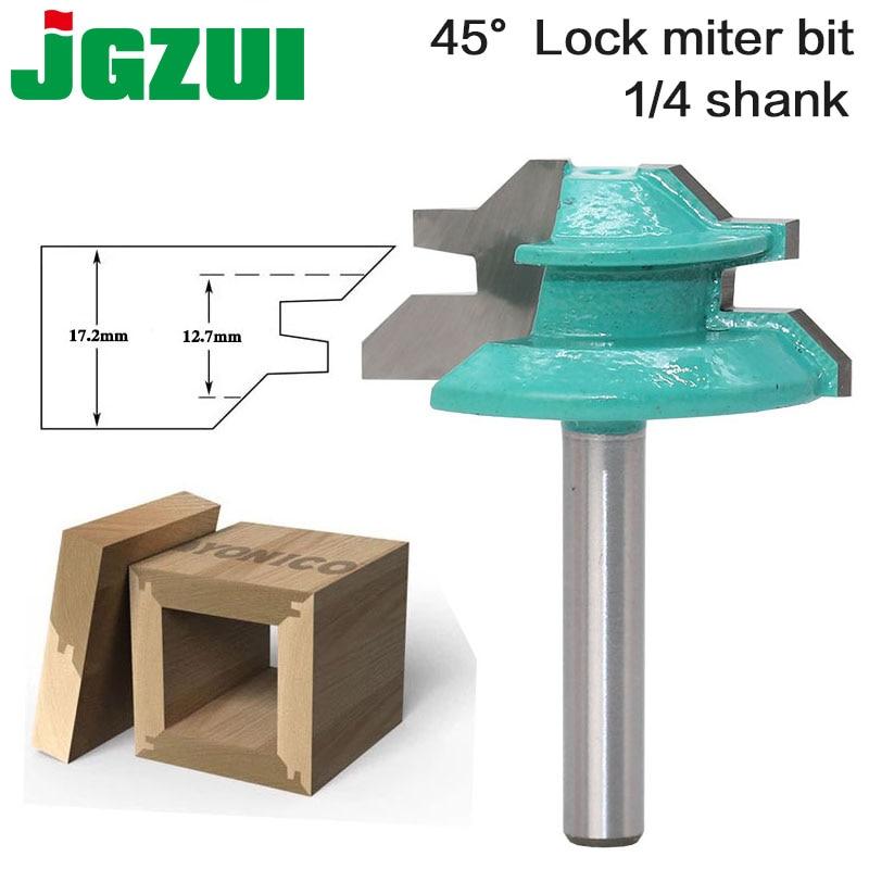 1pc Large Lock Miter Router Bit - 45 Degree - 1-3/8