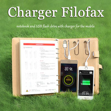 2018 new filofax a5 journal diary power bank charge agenda PU leather cove business gifts diaries