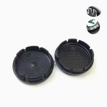 4 sztuk 56mm dla Skoda nakładki środkowe koła dla Skoda Alloy koła znaczek z symbolem Octavia Fabia Yeti # 5JA601151A distintivo tanie i dobre opinie DUEFO CN (pochodzenie) 2018 5 6inch 1inch Emblems 45kg car wheel center caps 56mm