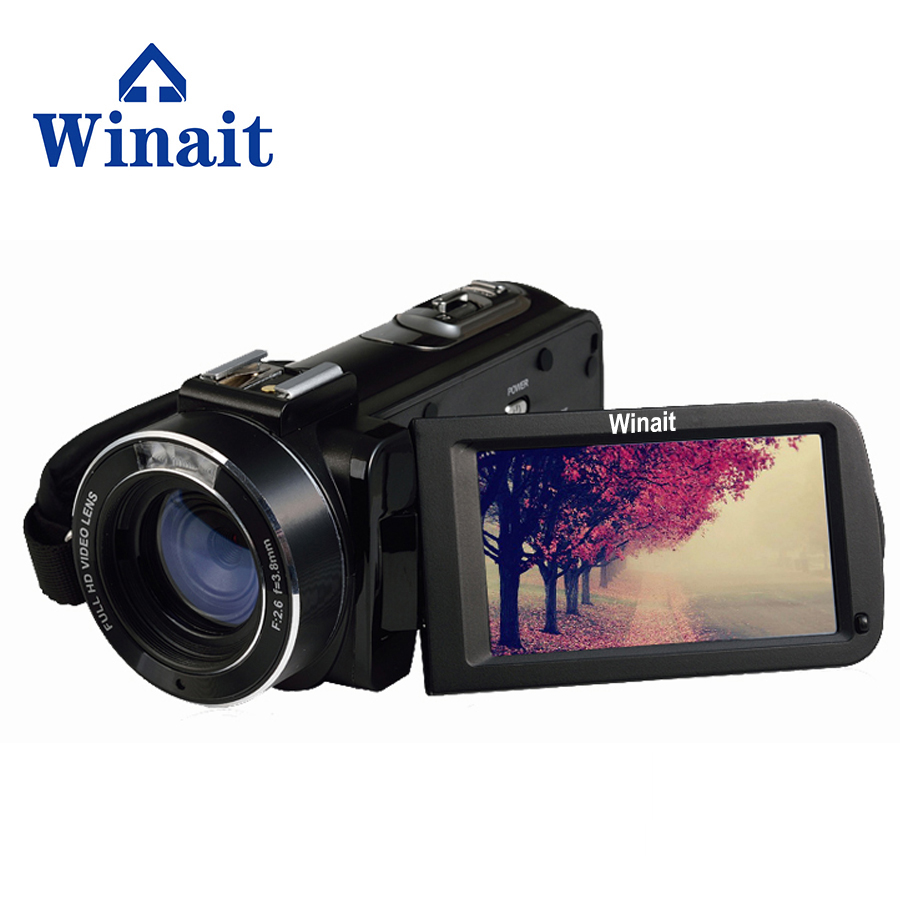 цена на Winait FHD 1080P Digital Video Camera max 24MP Camcorder 3 LCD DIS 16X Digital Zoom Remote Control HDMI DV DVR filmadora