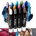 Por Nanda 1 Pcs 15 Cores Shimmer Glitter Eyeshadow Lápis Rotativo Automático À Prova D' Água Creme Para Os Olhos Sombra Maquiagem Varas Highlighter