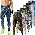 Corredores dos homens 2016 Camuflagem Calças De Compressão Homens Camo Calças Justas Leggings Calças Roupas de Marca Crossfit